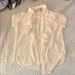 Forever 21 Cream/White Blouse